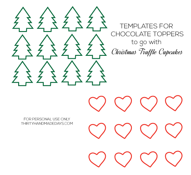 Templates for chocolate toppers from www.thirtyhandmadedays.com