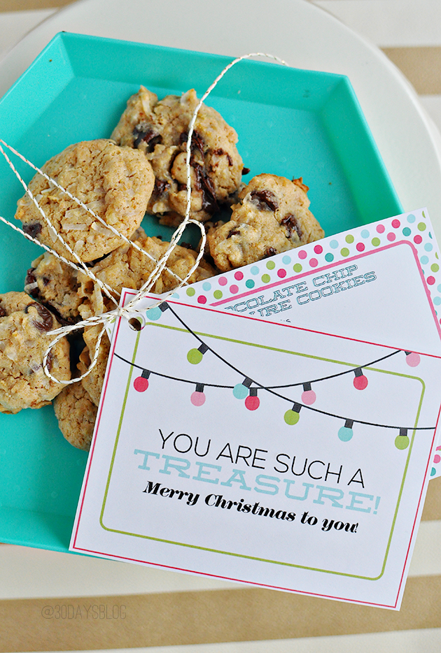 Simple and fun Christmas gift with free printables from www.thirtyhandmadedays.com