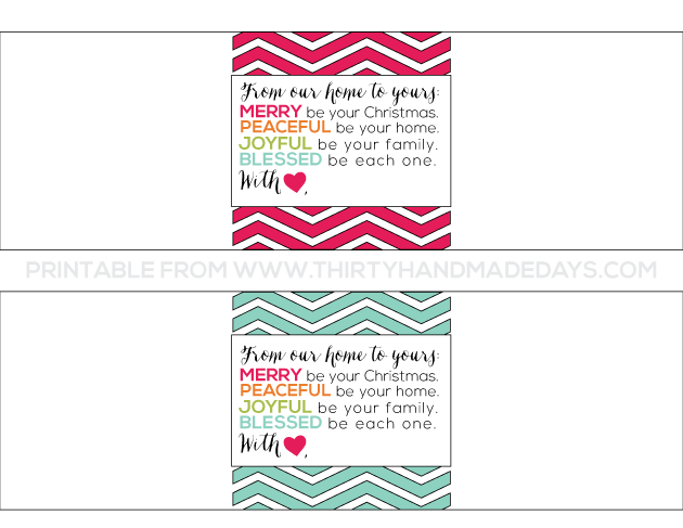 Easiest ever gift idea printable from www.thirtyhandmadedays.com