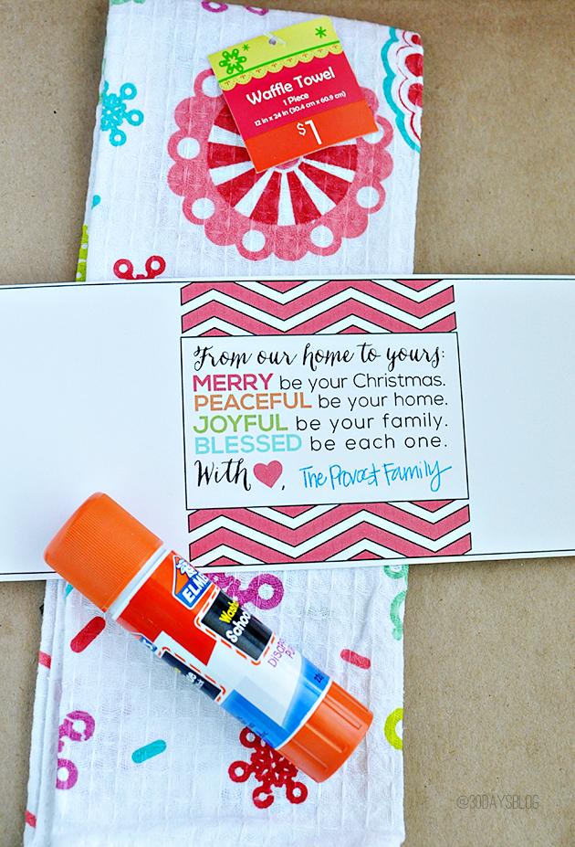 Easiest ever gift idea supplies from www.thirtyhandmadedays.com