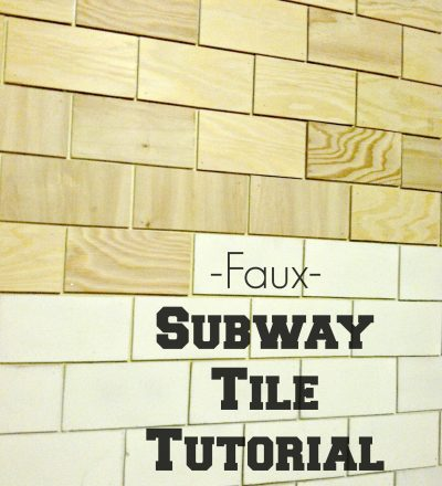 Faux Subway Tile Tutorial from Salty Bison via www.thirtyhandmadedays.com