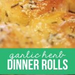Garlic Herb Dinner Roll Recipe via www.thirtyhandmadedays.com