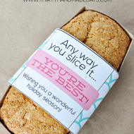 Holiday Gift Ideas: Printable Bread Wrapper