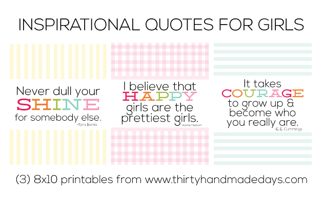 Inspirational quotes from www.thirtyhandmadedays.com
