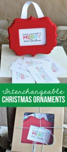 Interchangeable Christmas Ornaments - print out these quotes to use for these cute ornaments from www.thirtyhandmadedays.com