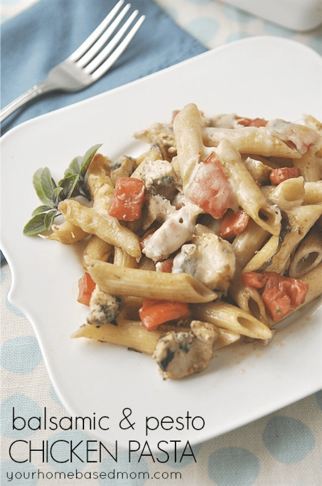 Balsamic and Chicken Pesto Pasta - a new take on an old classic!