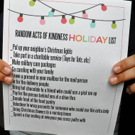 Random Acts of Kindness Holiday List + Secret Society of Bubblers