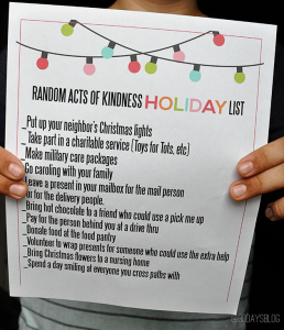 Random Acts of Kindness Holiday Printable from www.thirtyhandmadedays.com