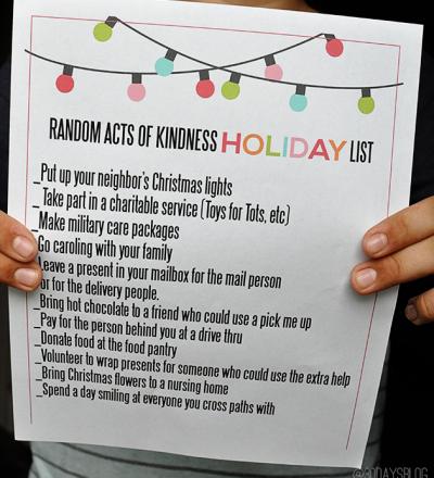 Random Acts of Kindness Holiday Printable from www.thirtyhandmadedays.com