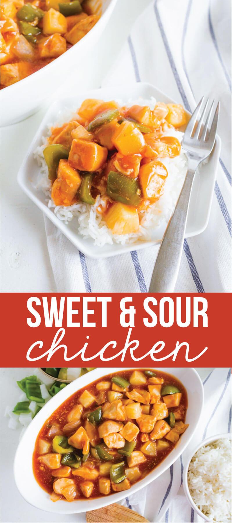 Sweet Sour Chicken - a family favorite main dish recipe from my aunt! via thirtyhandmadedays.com