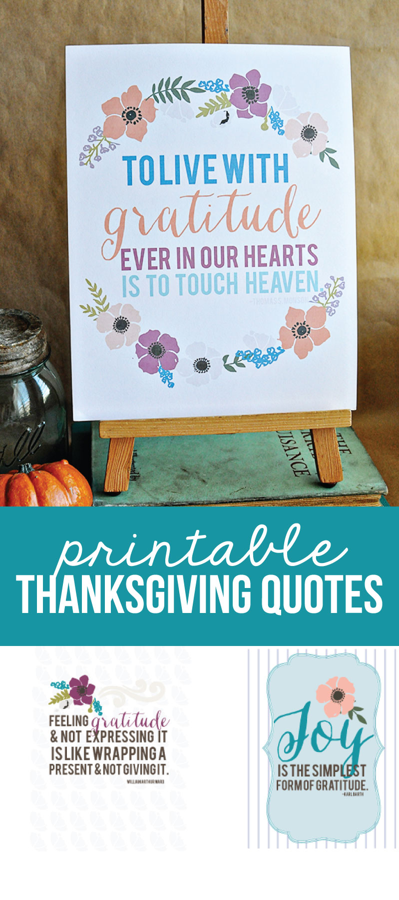 Quotes Gratitude Printable Thanksgiving Quotes