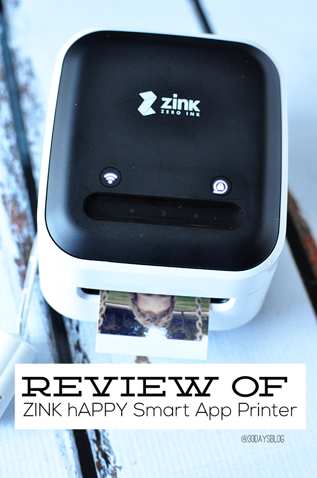 ZINK hAppy Smart App Printer review from www.thirtyhandmadedays.com