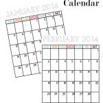Updated Printable Calendar 2014
