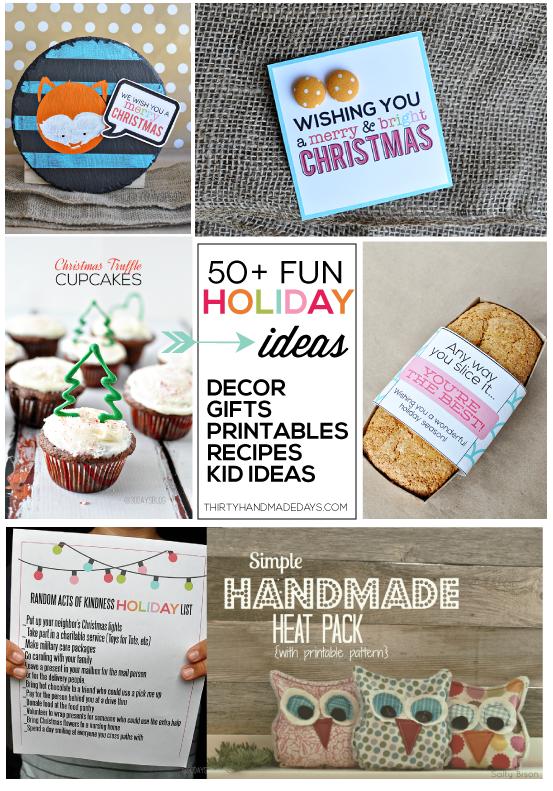 30daysblog Christmas Projects- recipes, gift ideas, printables, more www.thirtyhandmadedays.com