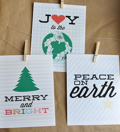 Printable Christmas Quotes and Tags from www.thirtyhandmadedays.com