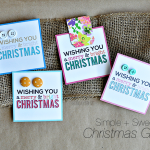 Simple and sweet Christmas Gifts with printable card www.thirtyhandmadedays.com