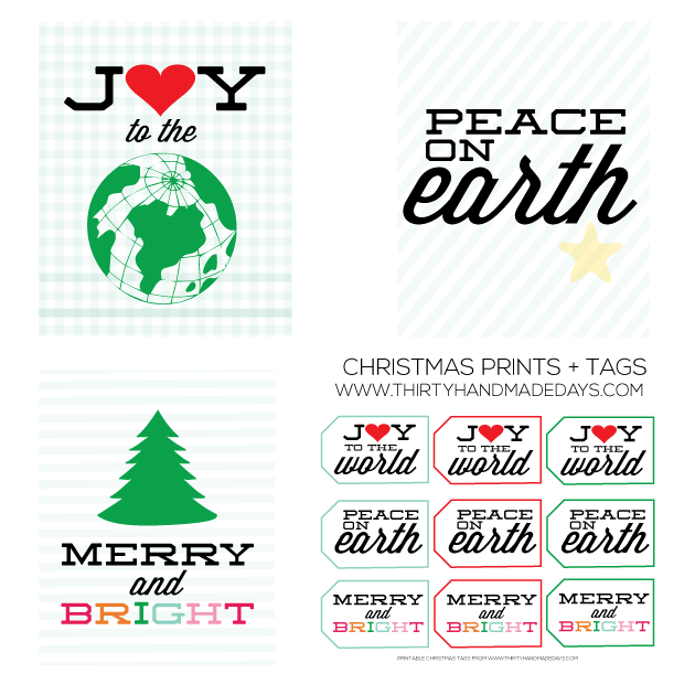 Fun & Festive Christmas Prints from www.thirtyhandmadedays.com