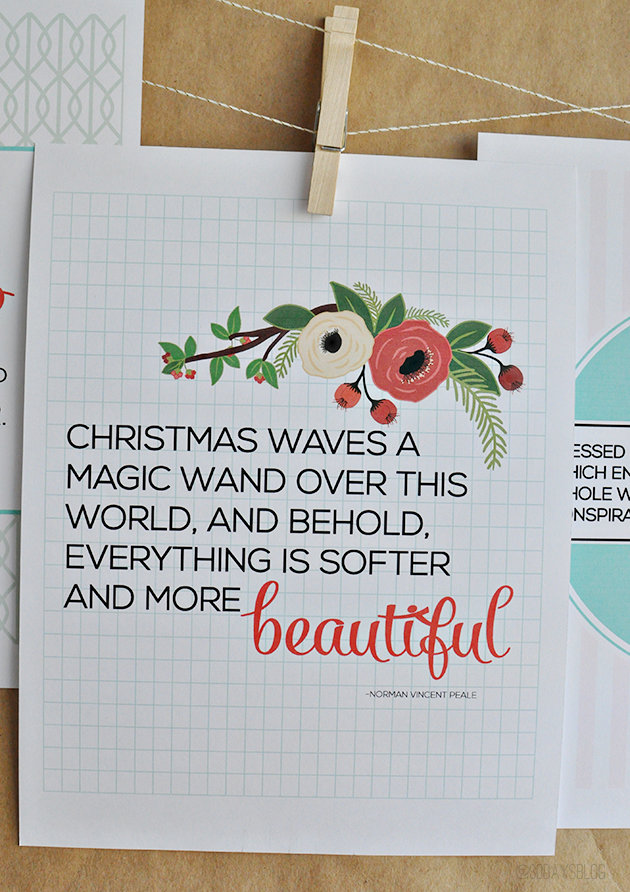 Printable Christmas Quotes from www.thirtyhandmadedays.com