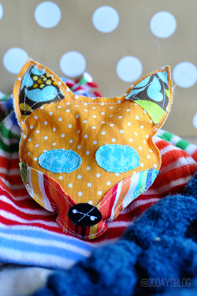 DIY Fox Stocking Stuffer with pattern from www.thirtyhandmadedays.com
