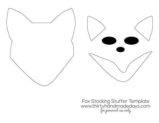 Fox Stocking Stuffer Pattern www.thirtyhandmadedays.com