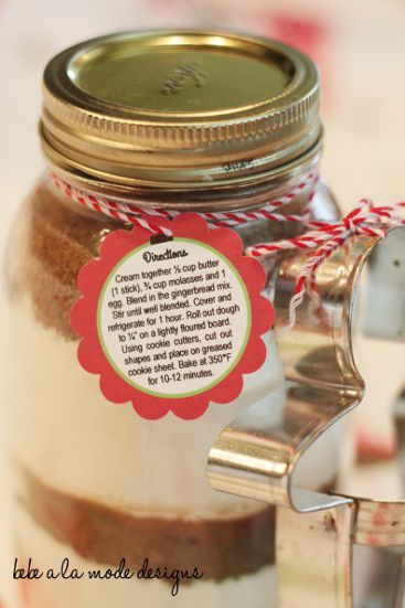 gingerbread mix label_back