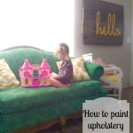 How to paint upholstery by Salty Bison via www.thirtyhandmadedays.com