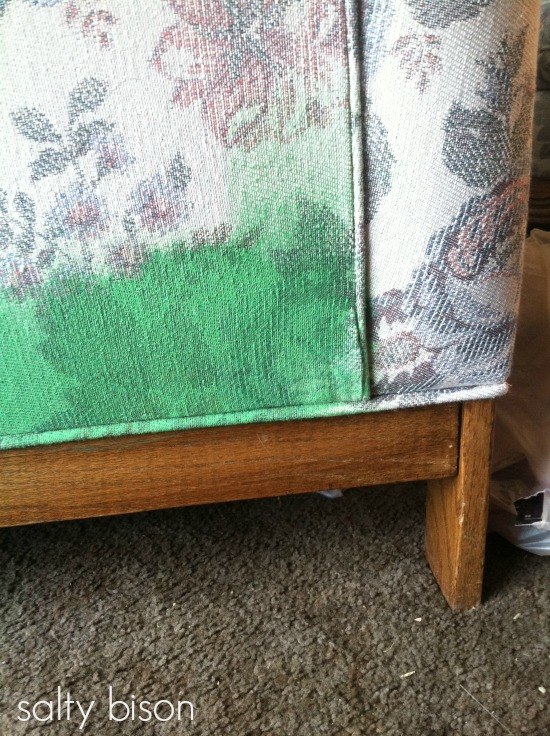 DIY painting upholstery - step 3