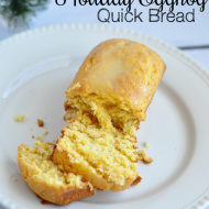 Simple + Tasty Holiday Eggnog Quick Bread