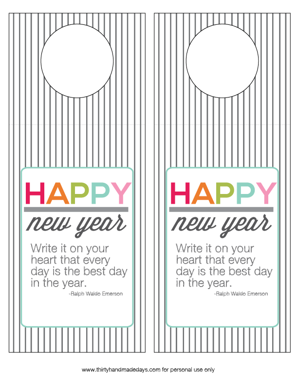 New Year's Printable Bottle Tags from www.thirtyhandmadedays.com