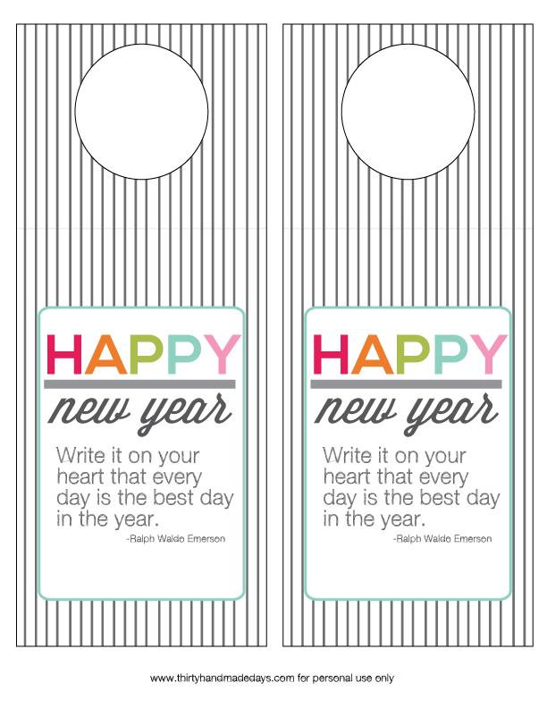 New Year's Printable Bottle Tags from www.thirtyhandmadedays.com