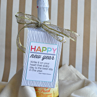 Printable New Year's Eve Bottle Tags