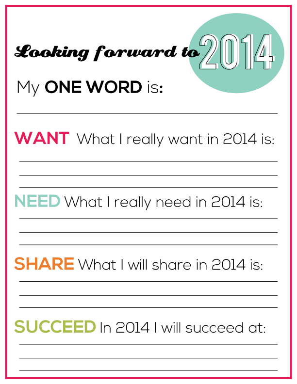 printable new years resolutions for you from wwwthirtyhandmadedayscom