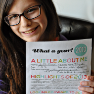 Printable New Year's Resolutions for Kids 2014