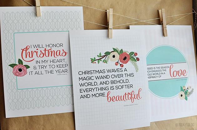 Printable Christmas Quotes from www.thirtyhandmadedays.com via Your Homebased Mom