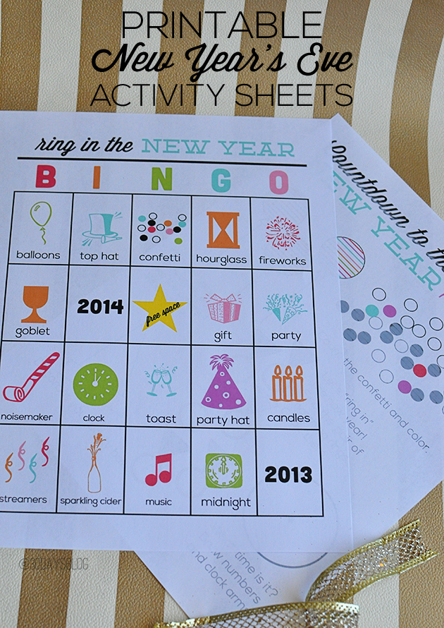 printable new years eve activity sheets for kids fun to ring in the new year