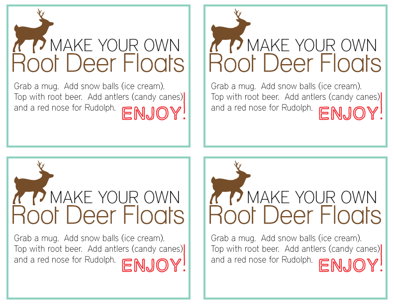 Root Deer Float Kit Printable from www.thirtyhandmadedays.com For personal use only.