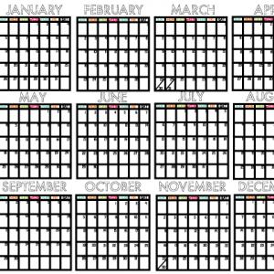 Printable Mini Calendar for 2014 www.thirtyhandmadedays.com