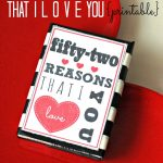 52 Reasons I Love You Printable
