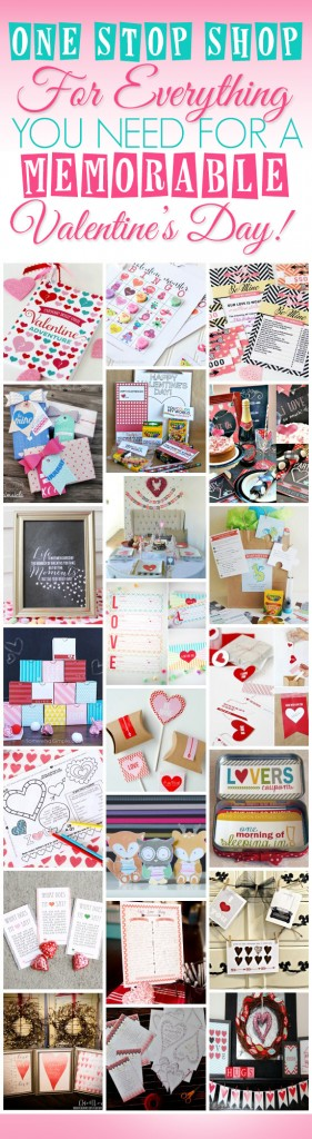 Valentine's Printable Pack via www.thirtyhandmadedays.com