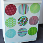 Simple DIY Mail Sorter for Organization using an Ikea box and Mod Podge - www.thirtynandmadedays.com