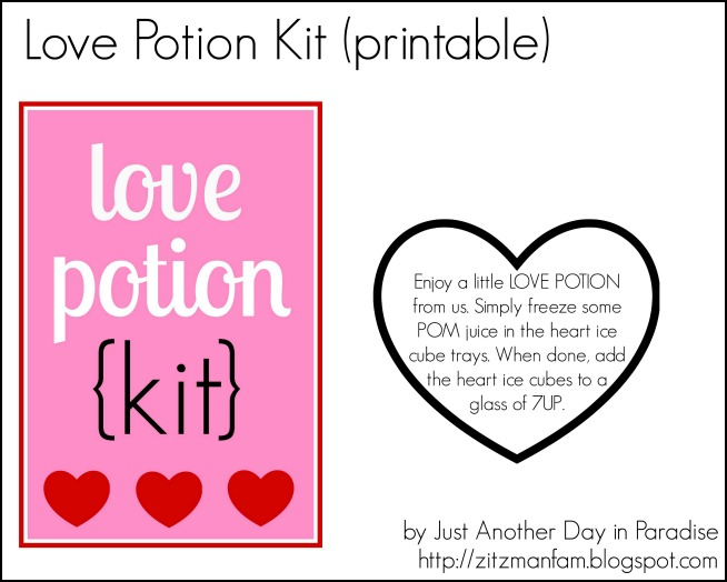 Love Potion Kit Printables