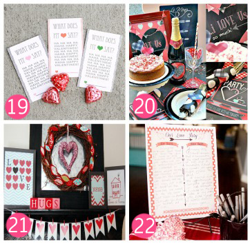 Over 20 Valentine's Printables Packet available from thirtyhandmadedays.com
