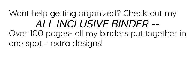 Get organized with my All Inclusive Binder