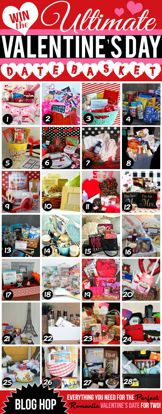 28 Amazing Baskets to celebrate Valentine's Day! www.thirtyhandmadedays.com