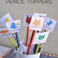 Printable Pencil Toppers for Valentine's Day