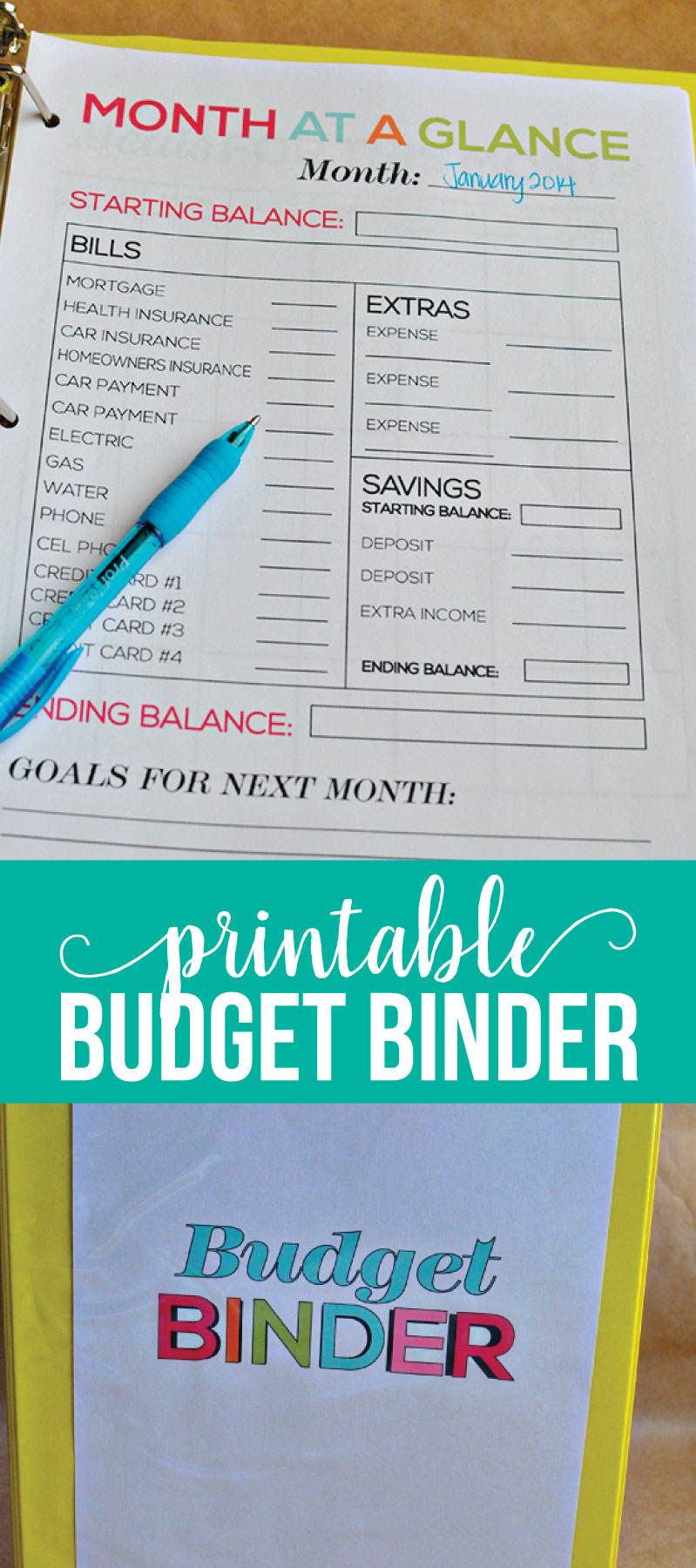 Printable Budget Binder- download these budgeting sheets to get your  finances in order. www