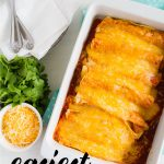 Cheater Beef Enchiladas- using only 4 ingredients