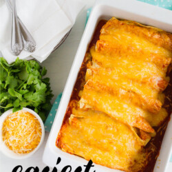 Easiest Homemade Beef Enchiladas Ever! This main dish recipe takes minutes to make. from www.thirtyhandmadedays.com