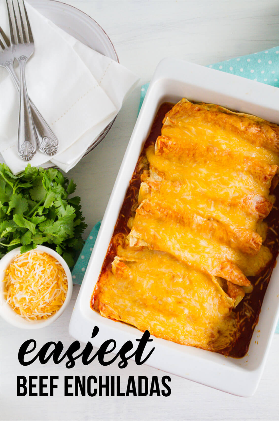 Easiest Beef Enchilada Recipe Ever! This main dish recipe takes minutes to make. from www.thirtyhandmadedays.com