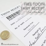 Free Tooth Fairy Receipt featured on The Party Bunch www.thirtyhandmadedays.com